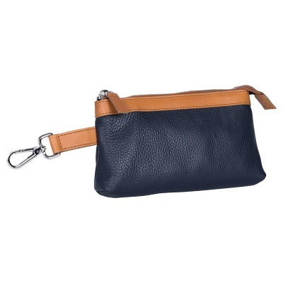 0714 Leather cosmetic bag