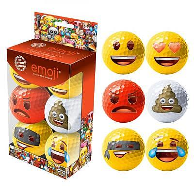 emoji 6 Fun Golf Balls