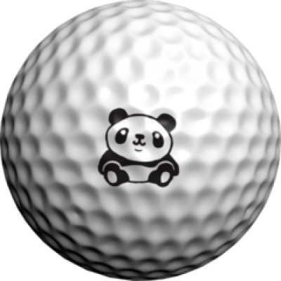 golfdotz Golfball Tattoo, Panda