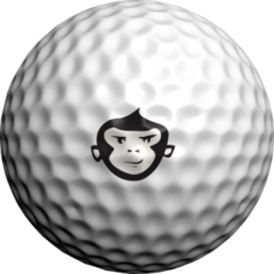 golfdotz Golfball Tattoo, Affe