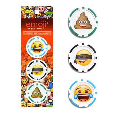 emoji Poker Chip Marker Set 3pc