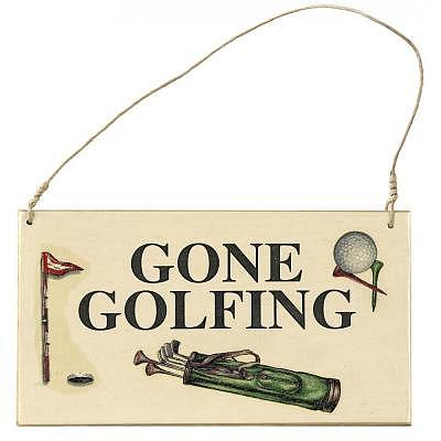 Sportiques Golf Türschild, Gone Golfin..