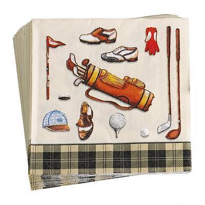 Sportiques Golfer Papierservietten 33x..