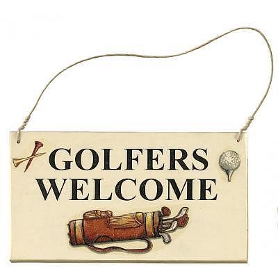 Sportiques Golf Türschild, Golfers Wel..