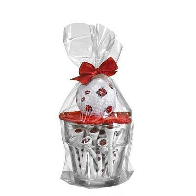 Sportiques Glas-Blumentopf mit Ball un..