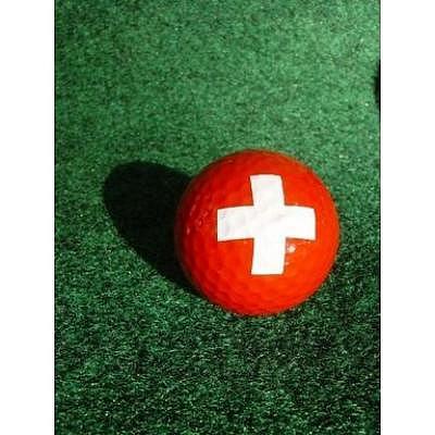 Sportiques Golfball Schweizerkreuz
