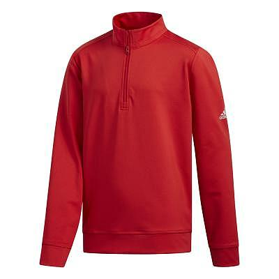 adidas K Boys Solid Half Zip Layer
