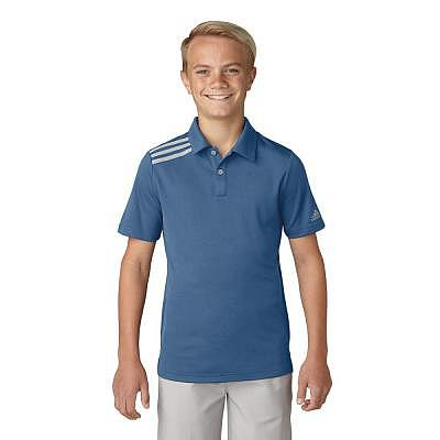 adidas K Boys 3-Stripes Solid Polo SS