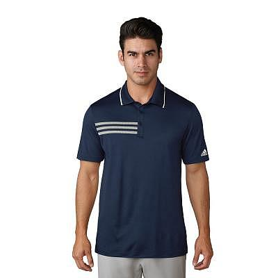 adidas M 3-stripes Mesh Collar Polo SS