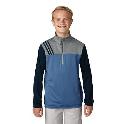 adidas K Boys Fashion 3-Stripes Half Z..
