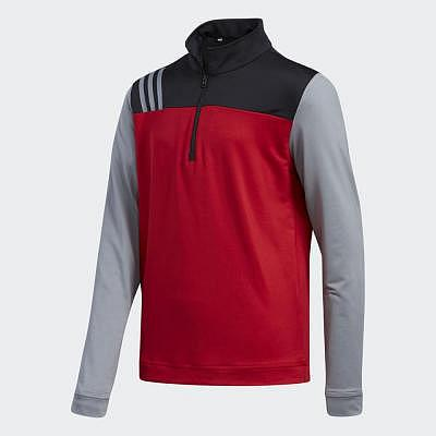 adidas K Boys 3-Stripes Half Zip Layer