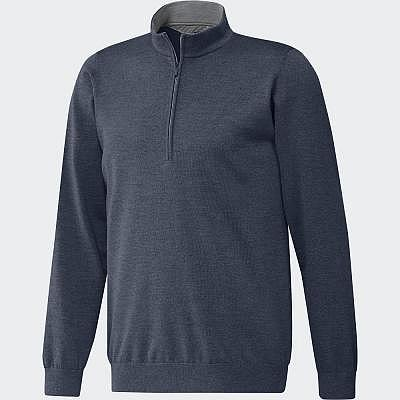 adidas M ADIPRefined 1/4 Zip Sweater
