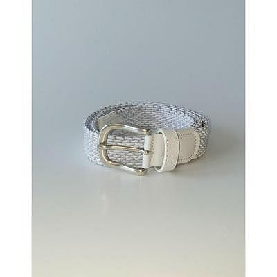 Alberto W Silver Braided Stretch Belt