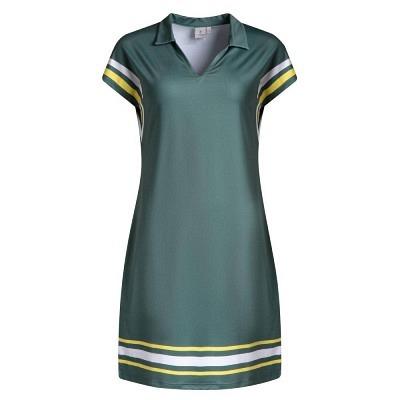 Cross W Stripe Dress