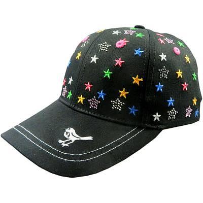girls golf W ALL OVER STARS Cap