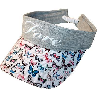 girls golf W Butterfly Visor