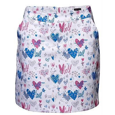 girls golf W hearts in pastell Skort
