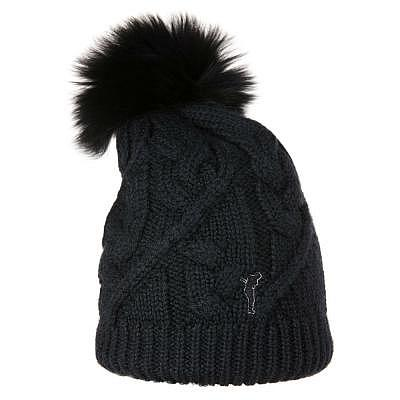 Golfino W Knitted hat with real fur po..