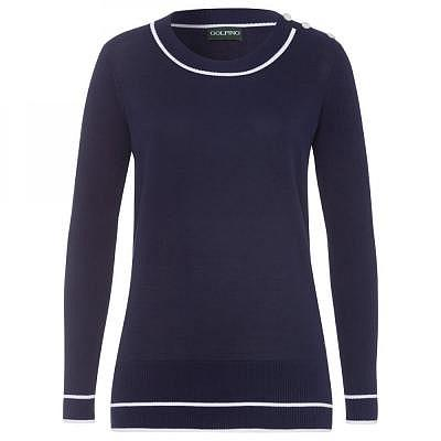 Golfino W Pima Cotton Round Neck Pullo..
