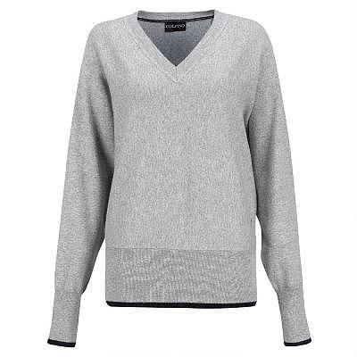Golfino W Silver Touch V-Neck Pullover