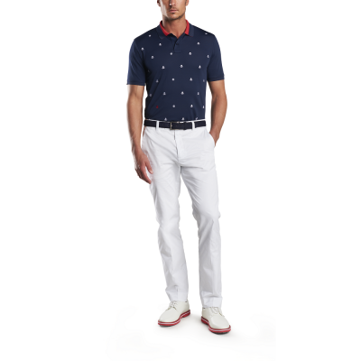 G-Fore M SKULL & TS Embroidered Polo SS