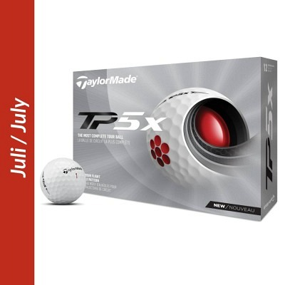 TaylorMade TP5 + TP5x balls with logo