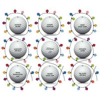 Titleist personalized balls christmas ..
