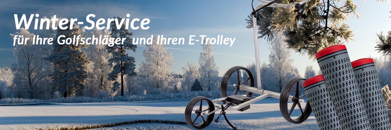 Winterservice für E-Trolleys und Golfschläger